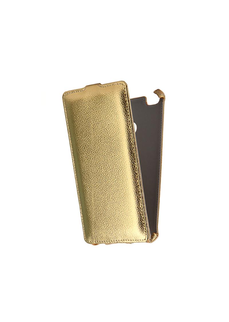 Чехол для Xiaomi Redmi 3s / 3 Pro Gecko Flip case, золотистый