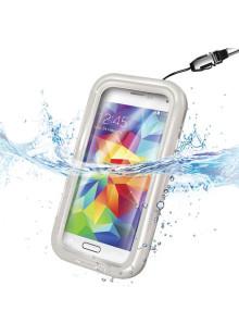 """Чехол водонепроницаемый для смартфона 4.5-5.2"""", Celly, белый"""